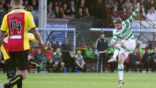 Sizzling Celtic hammer Partick Thistle as Patrick Roberts scores twice
