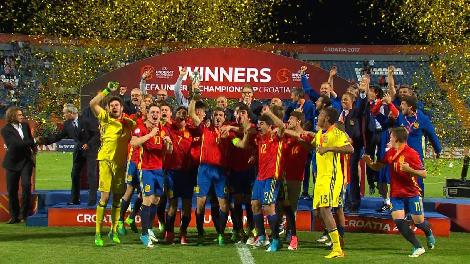 VIDEO - Highlights: Spain break England hearts in Euro U17 final - UEFA European Under-17 ...