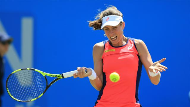 Top seed Konta wins Nottingham semi-final