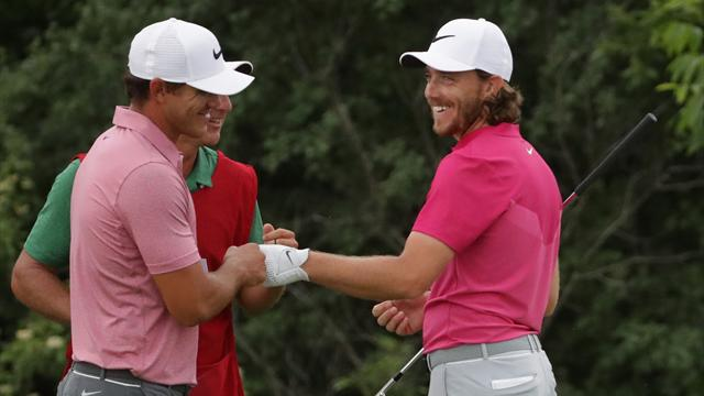 Fleetwood, Harman trade birdies at 15 at US Open