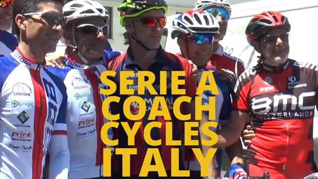 Serie A coach cycles the length of Italy following family tragedy