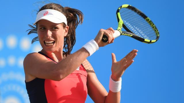 Johanna Konta happy to have a heavy workload in Wimbledon build-up