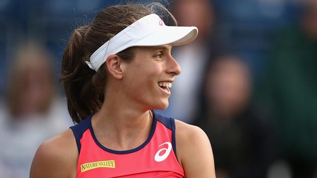Johanna Konta crashes out in second round after defeat by Coco Vandeweghe
