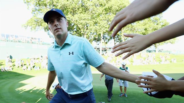 Jordan Spieth had fun going 'nuts' after draining bunker shot — Travelers Championship