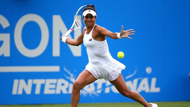 Heather Watson shocks Dominika Cibulkova at Eastbourne