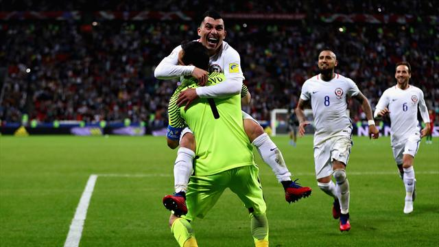 Bravo the hero as Chile stun Portugal on penalties to reach final