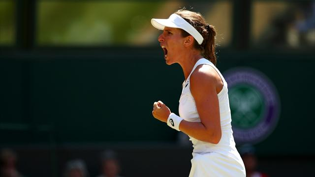 Vekic pushes Konta hard at Wimbledon