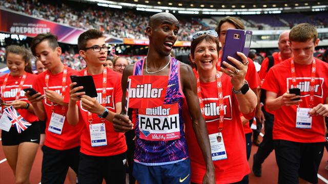Mo Farah Prepares for Double Gold at London World Cup