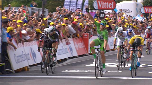 Kittel comes from five bike lengths back to snare another win
