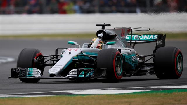 British GP qualifying: Hamilton equals Clark's record in Silverstone drizzle