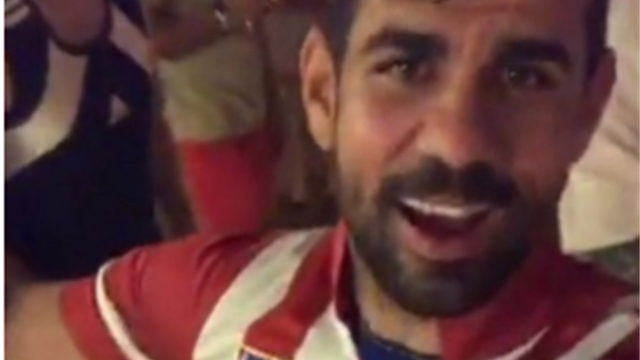Costa filmed partying in Atletico shirt, saying: 'Give a hug to Conte'
