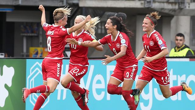 Denmark hit back after keeper howler to stun reigning champions Germany
