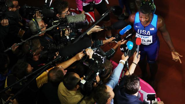 Gatlin blames TV scheduling for Bolt injury