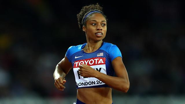 Olympic champions U.S. lead the way in women's 4x100m relay heats