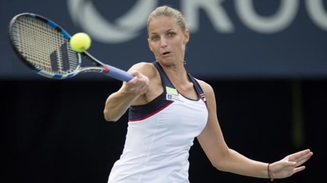 World number one Karolina Pliskova reaches Rogers Cup third round