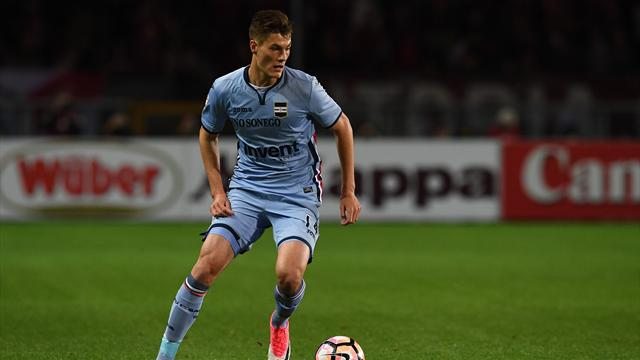 Schick moves from Sampdoria to Roma in record £39m deal