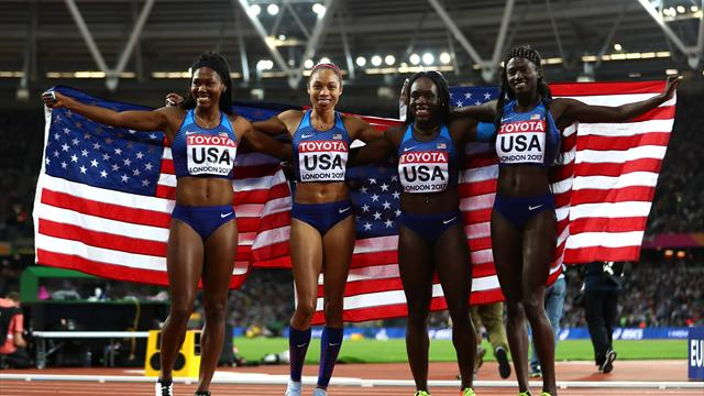 US reclaim women's 4x100m world title, Britain take silver