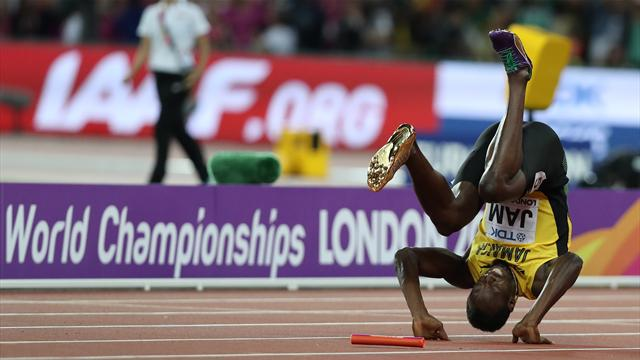 British relay team revel in golden moment as Bolt suffers sad exit