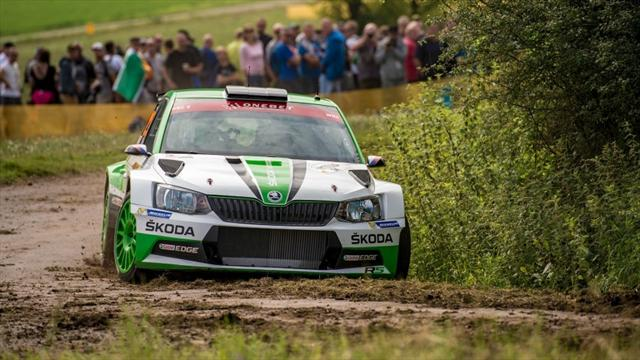 Kopecky leads in Germany as Meeke crashes out