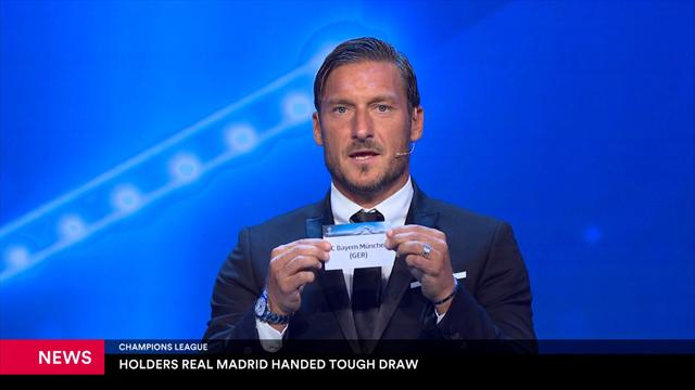 Defending champions Real Madrid handed tough draw