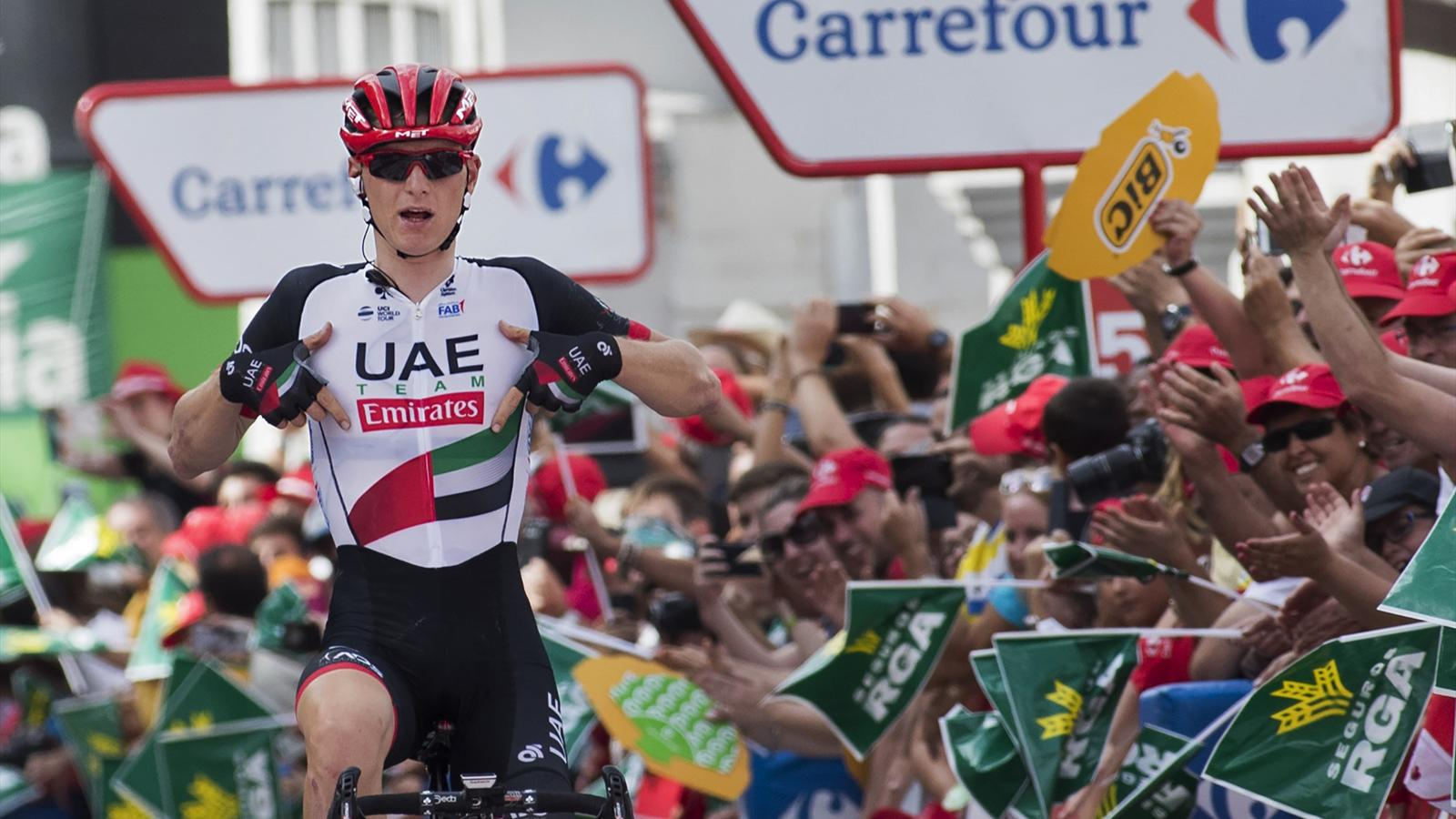 La Vuelta: Matej Mohoric wins Stage 7 with remarkable solo breakaway