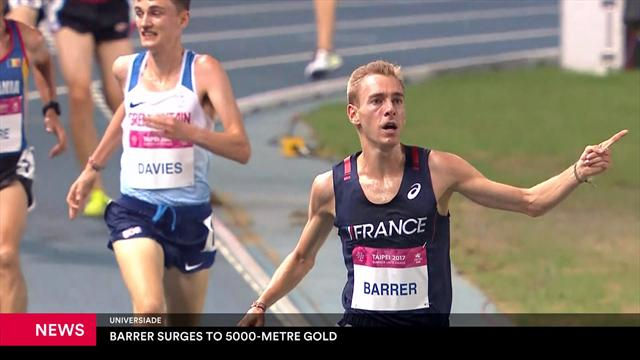 Universiades : Barrer surges to 5000m gold