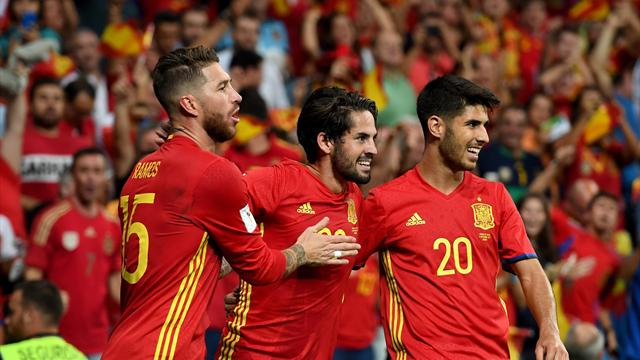 Isco brace helps Spain beat Italy in World Cup qualifying