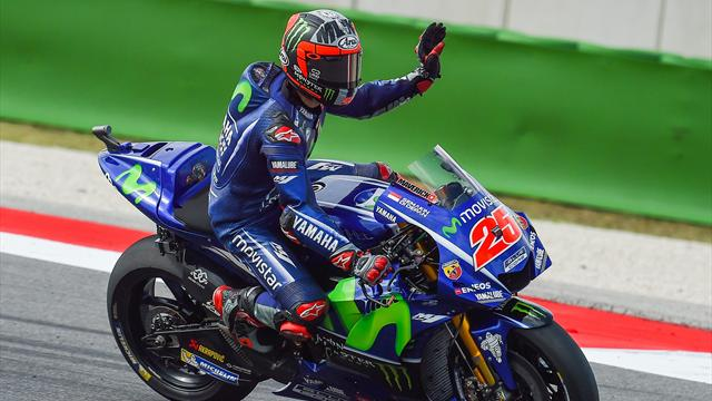Vinales on pole for San Marino GP as Marquez crashes