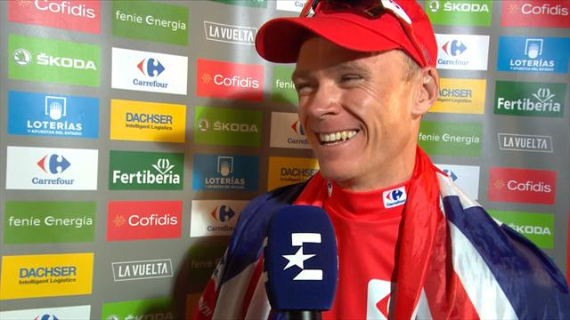 Froome interviewed in Spanish… and he's not bad!