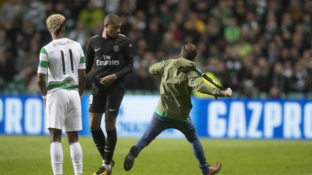 UEFA charge Celtic over fan invading pitch against PSG