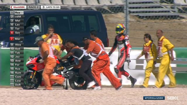 Davies crash all but hands title to Rea