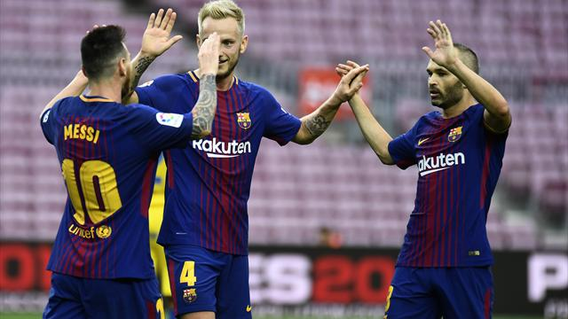 Messi brace gives Barca victory in empty Camp Nou