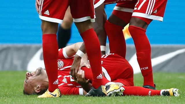 Bayern's Ribery out for several weeks with ligament damage
