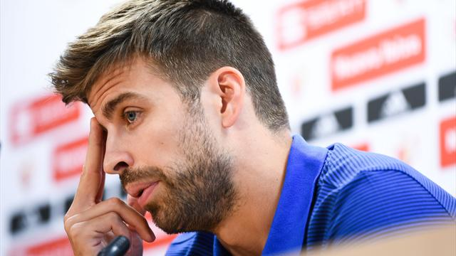 Pique offers to resign from Spain team amid Catalan referendum violence