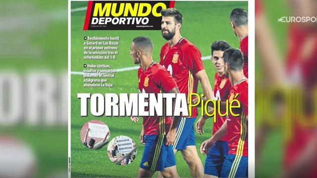 Euro Papers: 'Intolerable' - Pique abuse rocks Spain