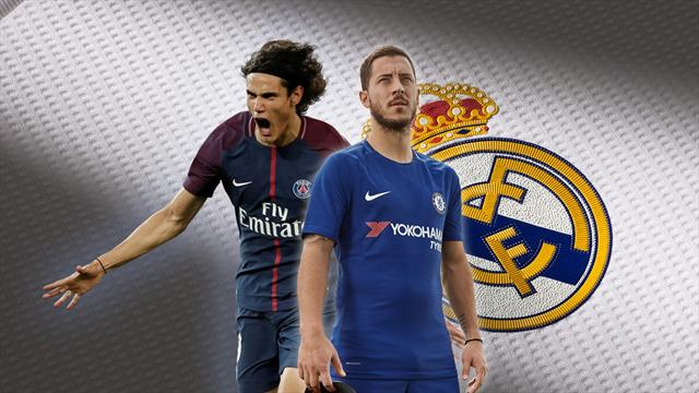 Euro Papers: Real Madrid chase Hazard and Cavani in stunning double swoop