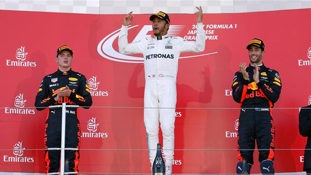 Japanese Grand Prix: Hamilton closes in on title, celebrates with Mobot