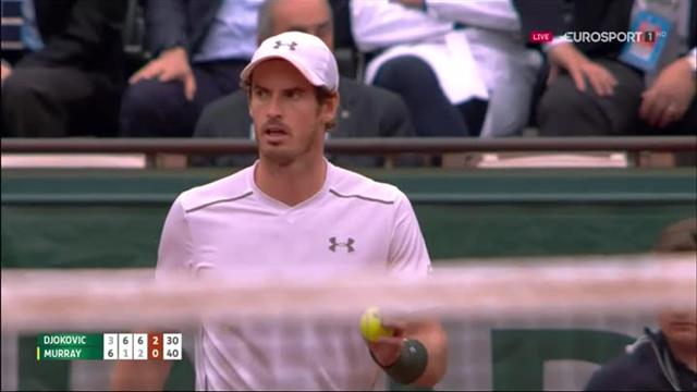 Novak Djokovic produces wonderful crosscourt winner