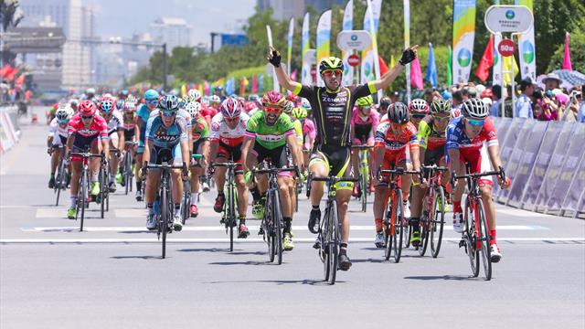 Aberasturi opens 16th Tour of Qinghai Lake with sprint victory
